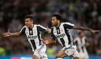 Calcio, Tim Cup: finale Juventus vs Lazio. Roma, stadio Olimpico, 17 maggio 2017.<br /> Juventus' Dani Alves, right, celebrates after scoring during the Italian Cup football final match between Juventus and Lazio at Rome's Olympic stadium, 17 May 2017.<br /> UPDATE IMAGES PRESS/Isabella Bonotto