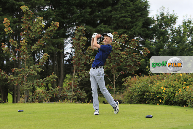 Ryan Sheerin (Tullamore) on the 18th tee during R1 of the 2016 Connacht U18 Boys Open, played at Galway Golf Club, Galway, Galway, Ireland. 05/07/2016. <br /> Picture: Thos Caffrey | Golffile<br /> <br /> All photos usage must carry mandatory copyright credit   (&copy; Golffile | Thos Caffrey)