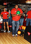 One Life To Live's Sean Ringgold & Kearran Giovanni at the Daytime Stars and Strikes Charity Event to benefit the American Cancer Society at the Bowlmore Lanes, New York City, New York. (Photo by Sue Coflin/Max Photos)