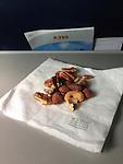 I-phone In flight picture of peanut snacks.