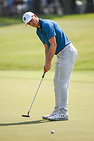Jordan Spieth (USA) watches his putt on 1 during round 3 of the WGC FedEx St. Jude Invitational, TPC Southwind, Memphis, Tennessee, USA. 7/27/2019.<br /> Picture Ken Murray / Golffile.ie<br /> <br /> All photo usage must carry mandatory copyright credit (© Golffile | Ken Murray)