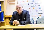 S&ouml;dert&auml;lje 2014-03-25 Basket SM-kvartsfinal 1 S&ouml;dert&auml;lje Kings - J&auml;mtland Basket :  <br /> J&auml;mtlands tr&auml;nare coach Pontus Frivold p&aring; presskonferensen efter matchen<br /> (Foto: Kenta J&ouml;nsson) Nyckelord:  S&ouml;dert&auml;lje Kings SBBK J&auml;mtland Basket SM Kvartsfinal Kvart T&auml;ljehallen tr&auml;nare manager coach portr&auml;tt portrait