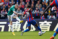 James McClean of West Brom shoots on goal during the EPL - Premier League match between Crystal Palace and West Bromwich Albion at Selhurst Park, London, England on 13 May 2018. Photo by Carlton Myrie / PRiME Media Images.