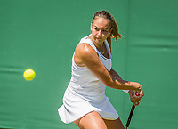 London, England, 5 th July, 2017, Tennis,  Wimbledon, Womens doubles: Lesley Kerkhove (NED) <br /> Photo: Henk Koster/tennisimages.com