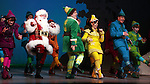 Beth Leavel, Wayne Knight, Jordan Gelber, Leslie Kritzer, Mark Jacoby & Jason Eric Testa during the First Performance Curtain Call of the Broadway Holiday Hit Musical 'Elf'  at the Al Hirschfeld  Theatre in New York City on 11/09/2012