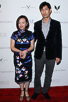 "WEST HOLLYWOOD, CA, USA - FEBRUARY 27: Kitty Rong, Allen V Dam at the 5th Anniversary Celebration Of Suzy Amis Cameron's Ecofashion Campaign ""Red Carpet Green Dress"" held at Palihouse on February 27, 2014 in West Hollywood, California, United States. (Photo by David Acosta/Celebrity Monitor)"
