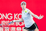 Christina Mchale of the United States competes against Eudice Chong of Hong Kong during the singles first round match at the WTA Prudential Hong Kong Tennis Open 2018 at the Victoria Park Tennis Stadium on 09 October 2018 in Hong Kong, Hong Kong. Photo by Yu Chun Christopher Wong / Power Sport Images