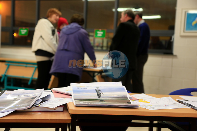 Information meeting in reference to the new East Meath Local Area Plan in Colaiste Na HInse, Bettystown.<br />  Picture: Fran Caffrey www.newsfile.ie