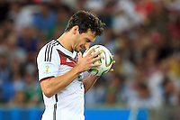Mats Hummels of Germany looks frustrated
