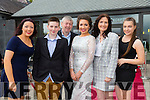 Kerry Rose contestant Amanda O'Donnell with family Front l-r Catriona O'Donnell,Anthony O'Donnell,John O'Donnell,Amanda O'Donnell,Mary O'Donnell and Marian O'Donnell from Listowel before the start of the Kerry Rose Selection on Saturday night at Ballyroe Heights Hotel
