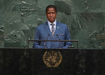 Opening of GA 72 2017 AM<br /> <br /> His Excellency Edgar Chagwa Lungu, President of the Republic of Zambia