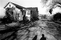 Shadows of Bethany Nickless and Trent Nelson at the abandoned sanitarium, 1987. &amp;#xA;<br />