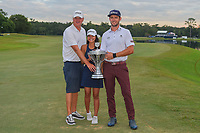 Lanto Griffin (USA) his girlfriend, Maya Brown, and his caddie, Chris Nash   hold the trophy for winning the 2019 Houston Open, Golf Club of Houston, Houston, Texas, USA. 10/13/2019.<br /> Picture Ken Murray / Golffile.ie<br /> <br /> All photo usage must carry mandatory copyright credit (© Golffile | Ken Murray)