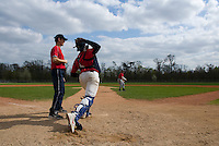 18 April 2006: Frederic Hanvi is seen catching during the third of seven 2006 MLB European Academy Try-out Sessions throughout Europe, at Stade Pershing, INSEP, near Paris, France. Try-out sessions are run by members of the Major League Baseball Scouting Bureau with assistance from MLBI staff.