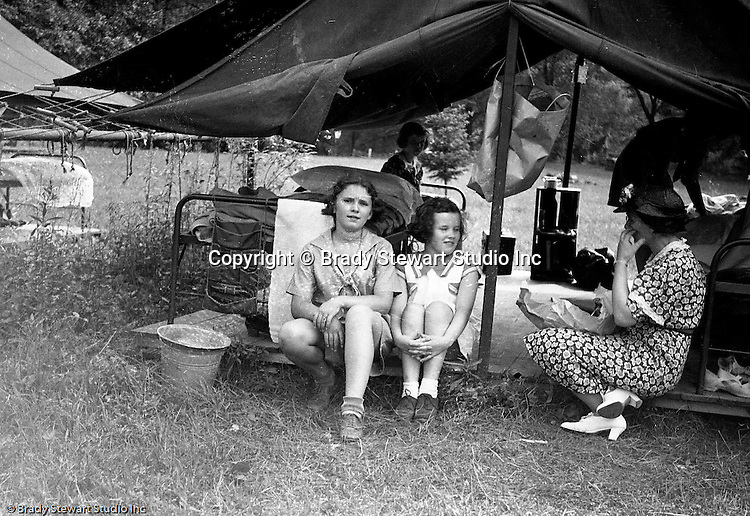 East McKeesport PA:  Girl Scouts all set up in their tents at Camp Youghahela - 1925.