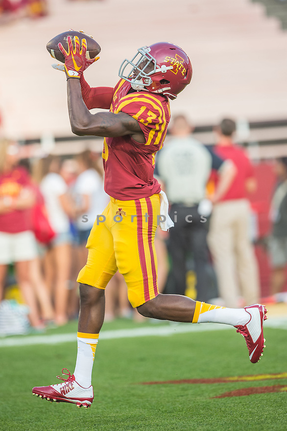 Iowa State Cyclones Dondre Daley (13) during a game against the Northern Iowa Panthers on September 5, 2015 at Jack Trice Stadium in Ames, Iowa. Iowa State beat Northern Iowa 31-7.