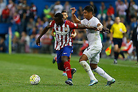 Atletico Madrid´s Colombian forward Raul Jackson and Real Madrid's Brazilian midfielder Casemiro