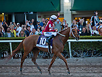 HALLANDALE BEACH, FL - JANUARY 27: Gun Runner #10, with Florent Geroux riding, wins the Pegasus World Cup Invitational Stakes Race on Pegasus World Cup Invitational Day at Gulfstream Park Race Track on January 27, 2018 in Hallandale Beach, Florida. (Photo by Kazushi Ishida/Eclipse Sportswire/Getty Images)