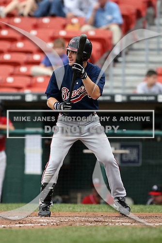 July 20th 2008:  Carl Loadenthal of the Richmond Braves, Class-AAA affiliate of the Atlanta Braves, during a game at Dunn Tire Park in Buffalo, NY.  Photo by:  Mike Janes/Four Seam Images