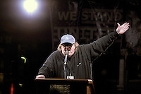 www.acepixs.com<br /> January 19, 2017  New York City<br /> <br /> Michael Moore speaks during a 'We Stand United' anti-Trump rally on January 19, 2017 in New York City.<br /> <br /> Credit: Kristin Callahan/ACE Pictures<br /> <br /> Tel: 646 769 0430<br /> Email: info@acepixs.com