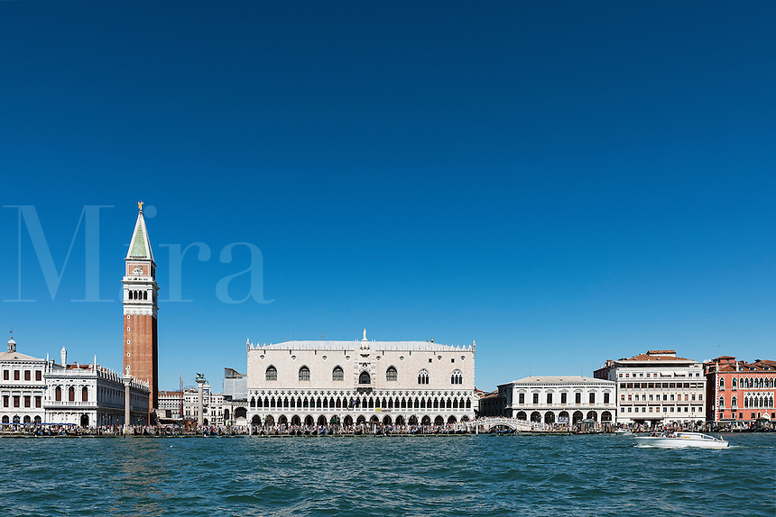 The Doge's Palace and St. Marks Campanile, Venice, Italy