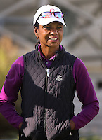 160213 Politician Condalleeza Rice during Saturday's Third Round of The AT&T National Pro Am at The Spyglass Hill Golf Club in Carmel, California. (photo credit : kenneth e. dennis/kendennisphoto.com)