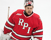 Cam Hackett (RPI - 1) - The Harvard University Crimson defeated the visiting Rensselaer Polytechnic Institute Engineers 5-2 in game 1 of their ECAC quarterfinal series on Friday, March 11, 2016, at Bright-Landry Hockey Center in Boston, Massachusetts.