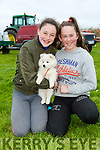 Enjoying the 10th Annual Maurice Collins Memorial Vintage day on the lands of Gerard McCarthy Banna West, Ardfert on Sunday were Tara O'Connor and Shona Chalk with JJ the Dog