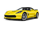Stock pictures of low aggressive front three quarter view of 2018 Chevrolet Corvette Grand-Sport-2LT 3 Door Coupe Low Aggressive