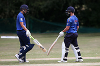 George Ballington and Ollie Ekers of Shenfield during Harold Wood CC vs Shenfield CC (batting), Essex Cricket League Cricket at Harold Wood Park on 25th July 2020