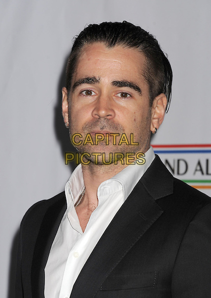 Colin Farrell.The US-Ireland Alliance Pre-Academy Awards Gala Held At Bad Robot, Santa Monica, California, USA..February 21st, 2013.headshot portrait black suit jacket white shirt stubble facial hair .CAP/ROT/TM.©Tony Michaels/Roth Stock/Capital Pictures