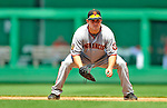 8 June 2008: San Francisco Giants' first baseman John Bowker in action against the Washington Nationals at Nationals Park in Washington, DC. The Giants rallied to defeat the Nationals 6-3 in their third consecutive win of the 4-game series...Mandatory Photo Credit: Ed Wolfstein Photo