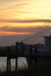 Shrimp Boat Sunset Crosbys near Folly Beach South Carolina Marsh Grass net