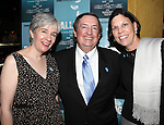 Playwright Deanna Jent, Producer Terry Schnuck & wife Sally attending the Off-Broadway Opening Night Performance After Party for 'Falling' at Knickerbocker Bar & Grill on October 15, 2012 in New York City.