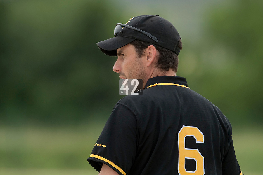 21 May 2009: Nicolas Pellet of Clermont-Ferrand is seen coaching during the 2009 challenge de France, a tournament with the best French baseball teams - all eight elite league clubs - to determine a spot in the European Cup next year, at Montpellier, France.