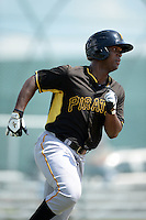 Pittsburgh Pirates outfielder Nicholas Buckner (13) during an Instructional League game against the New York Yankees on September 18, 2014 at the Pirate City in Bradenton, Florida.  (Mike Janes/Four Seam Images)