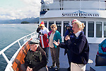 Alaska, Cruising the Southeast wilderness waterways on the Spirit of Discovery.  Naturalist on ship explains what is seen..Photo #: alaska10423 .Photo copyright Lee Foster, 510/549-2202, lee@fostertravel.com, www.fostertravel.com..
