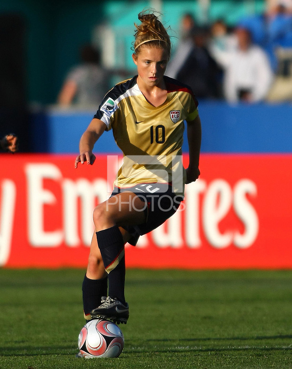 USA captain Kristie Mewis..FIFA U17 Women's World Cup, Semi Final, Germany v USA, QEII Stadium, Christchurch, New Zealand, Thursday 13 November 2008. Photo: Renee McKay/PHOTOSPORT