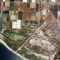 aerial view above Naval Air Station Point Mugu Ventura County California