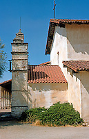 California Missions: Mission San Antonio, side elevation showing screen. Photo '85.