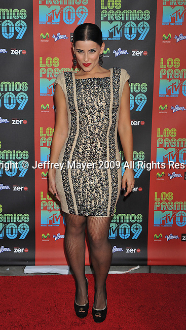 UNIVERSAL CITY, CA. - October 15: Nelly Furtado attends Los Premios MTV 2009 Latin America Awards held at the Gibson Amphitheatre on October 15, 2009 in Universal City, California.