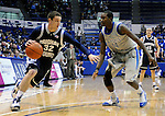 January 13, 2010:  BYU guard, Jimmer Fredette (32), drives for the basket during the Cougars Mountain West Conference game against Air Force at Clune Arena , U.S. Air Force Academy, Colorado Springs, Colorado.  BYU defeats Air Force 67-49.