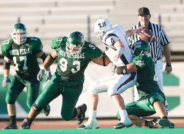 DENTON, TX  OCTOBER 18:  - North Texas Mean Green Football vs Utah State University Aggies at Fouts Field in Denton on October 18, 2003 in Denton, TX. NT won 37-27. Photo by Rick Yeatts