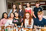 Claire McCormack, Camp, celebrating her 16th Birthday with friends at La Scala's on Thursday Pictured front l-r Adeena Mohsin, Kate Lynch, Fidel Campione, Tadhg Furter Back l-r Grace Fitzmaurice, Leah Canty, Caoimhe Moore and Kevin Griffin