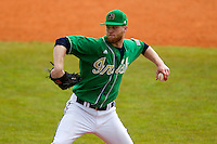Notre Dame Fighting Irish pitcher Ryan Richter #23 delivers a pitch during a game against the Purdue Boilermakers at the Big Ten/Big East Challenge at Al Lang Stadium on February 19, 2012 in St. Petersburg, Florida.  (Mike Janes/Four Seam Images)