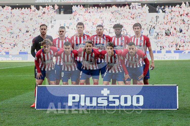 Atletico de Madrid's team photo during La Liga match between Atletico de Madrid and CD Leganes at Wanda Metropolitano stadium in Madrid, Spain. March 09, 2019. (ALTERPHOTOS/A. Perez Meca)