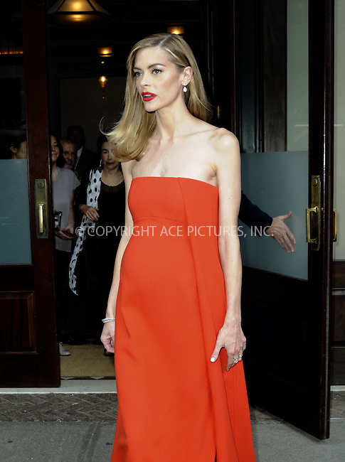 WWW.ACEPIXS.COM<br /> <br /> May 4 2015, New York City<br /> <br /> Actress Jaime King leaves a downtown hotel on the way to the Met Gala on May 4 2015 in New York City.<br /> <br /> <br /> Please byline: Curtis Means/ACE Pictures<br /> <br /> ACE Pictures, Inc.<br /> www.acepixs.com, Email: info@acepixs.com<br /> Tel: 646 769 0430