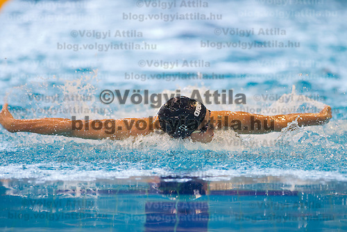 Zsuzsanna Jakabos of Hungary competes in the preliminary of Women's 200m Individual Medley of the 31th European Swimming Championships in Debrecen, Hungary on May 23, 2012. ATTILA VOLGYI