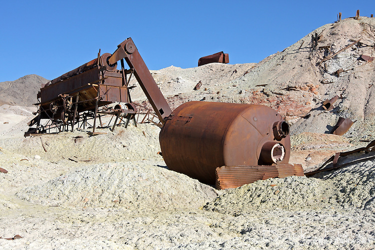Abandoned mining equipment, Crater Sulfur Mine, near Death Valley National Park