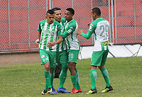 PASTO-COLOMBIA,09 -09-2018.Dayro Moreno jugador del Atlético Nacional celebra su gol contra el Deportivo Pasto durante partido por la fecha 9 de la Liga Águila II 2018 jugado en el estadio Departamental Libertad de la ciudad de Pasto./ Dayro Moreno player of   Atletico Nacional celebrates his goal agaisnt of Deportivo Pasto during the match for the date 9 of the Aguila League II 2018 played at Departamental Libertad stadium in Pasto city. Photo: VizzorImage/ Leonardo Castro / Contribuidor